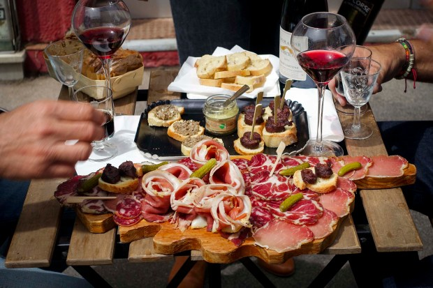 An asortment of meats from the Corsican Charcuterie, U Mio Paese in Marseille.