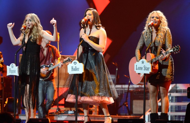 Miranda Lambert and the Pistol Annies perform onstage during the 2012 iHeartRadio Music Festival at MGM Grand Garden Arena in Las Vegas, Nevada. (Photo by Kevin Mazur/WireImage)