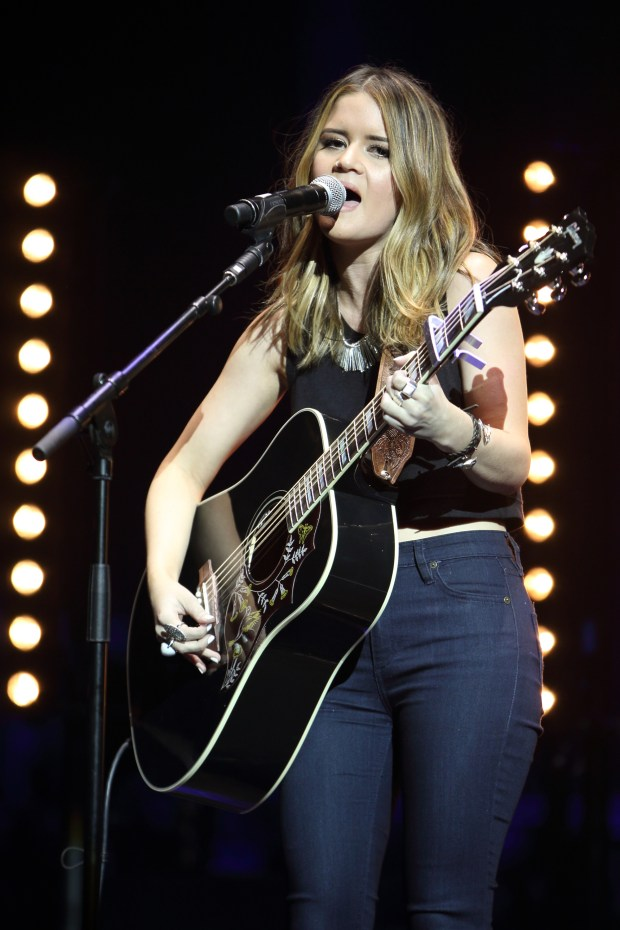 Maren Morris performs live at the Country 2 Country Festival at The O2 Arena in London, England. (Photo by Burak Cingi/Redferns)