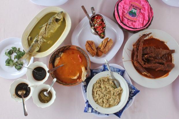 River cuisine in Jalcomulco, Veracruz. (Photo by Bill Esparza)