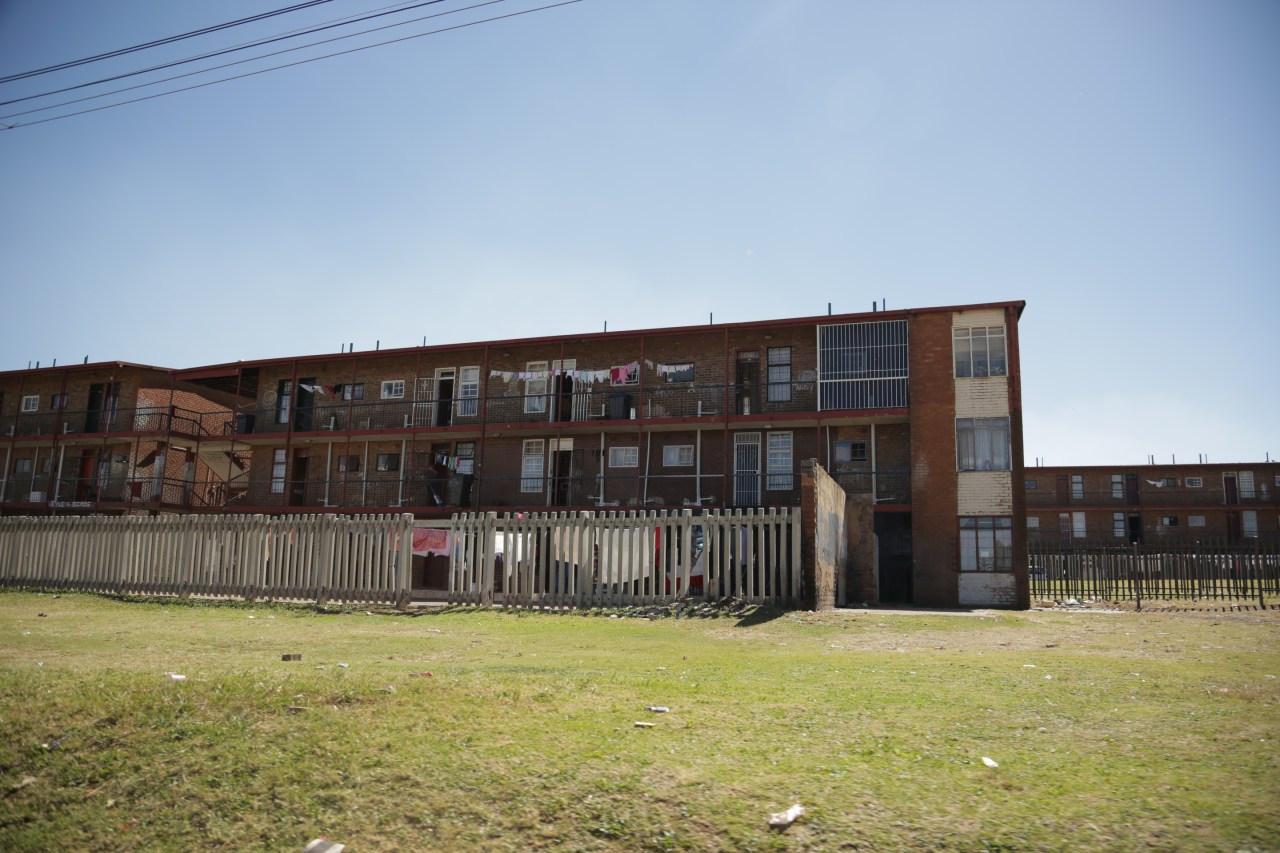 A housing development in El Dorado Park, an area of Soweto where several of The Commandos live with their parents.