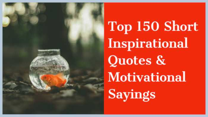 Short Inspirational Quotes Motivational Sayings