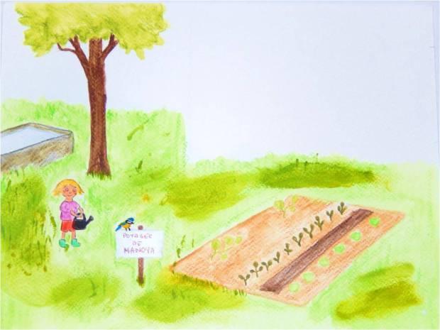histoire pour enfants potager salade jardiner limaces écologie