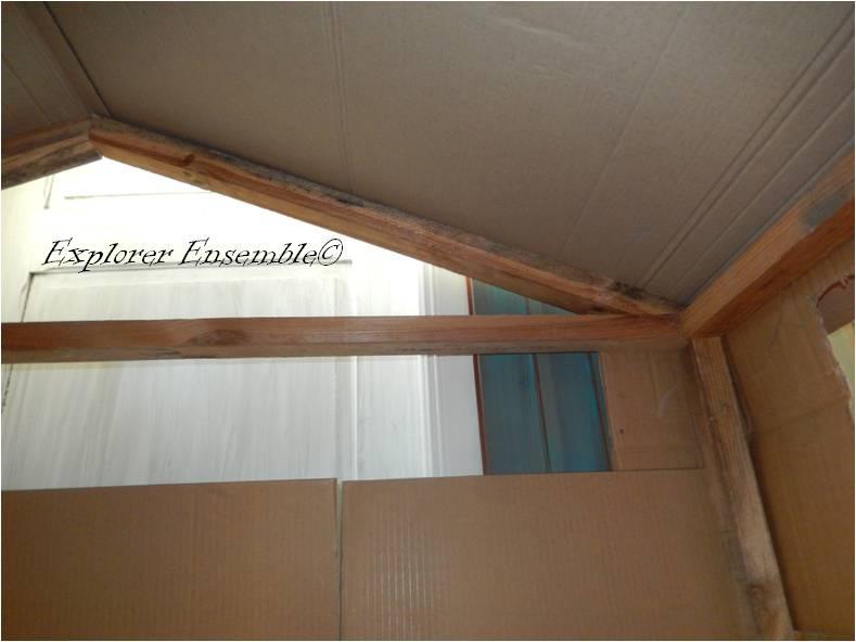 cabane d'intérieur enfants bois carton