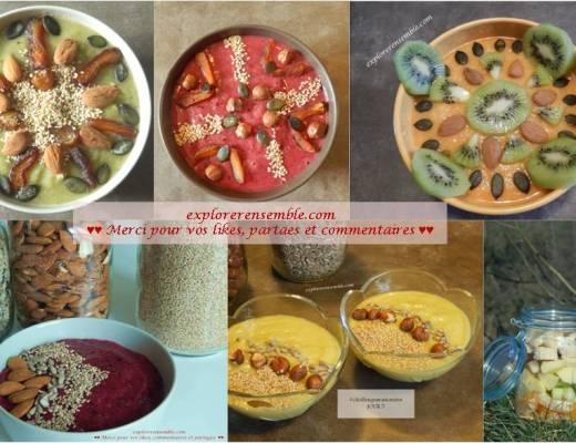 photos petit déjeuner rawfood vegan