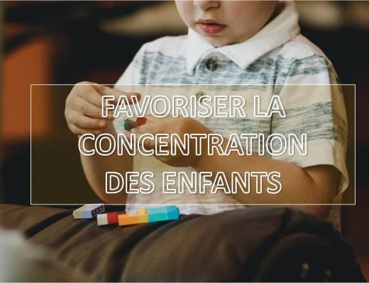 aider enfants à se concentrer concentration