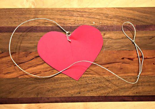 Kids' Valentine heart with twine
