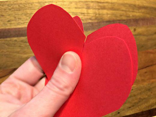 Kids' Valentine hearts together