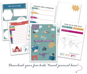 Kids' travel journal preview