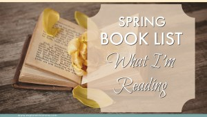 Spring book list book with a flower