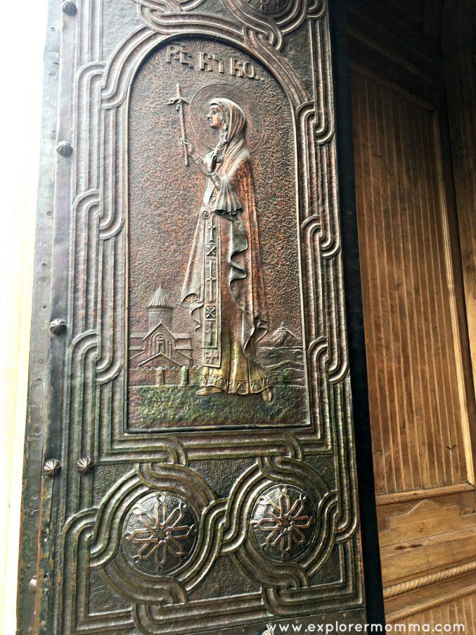 St. Nino metal door
