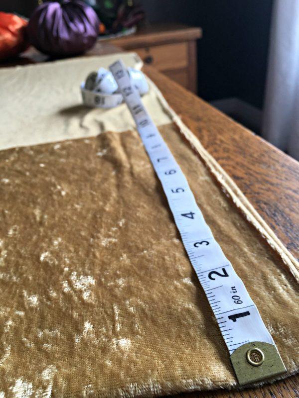 Easy DIY Pumpkin decor - tape measure