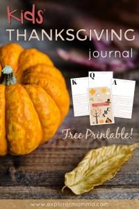 Kids' Thanksgiving Journal pin2