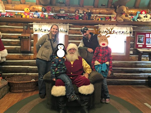 Tips For Visiting Santa's Workshop family picture