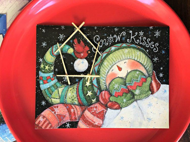 Kids' DIY Christmas Tree Ornament card