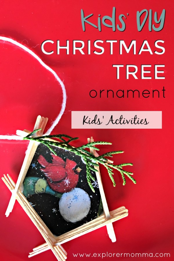 Kids' DIY Christmas Tree Ornament pin