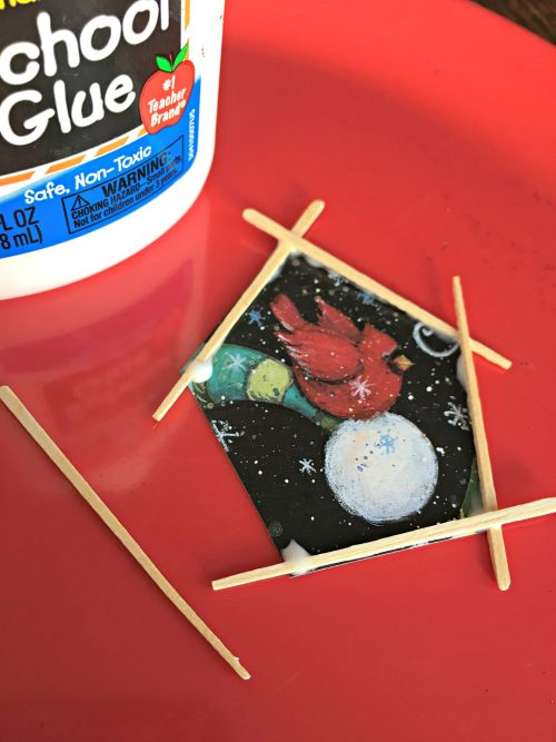 Kids' DIY Christmas Tree Ornament toothpicks 1