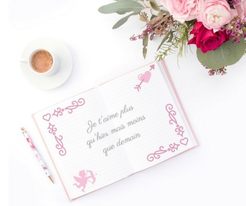 Printable French Valentine cards book
