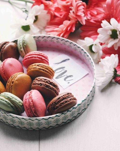 Printable French Valentine Cards, macarons