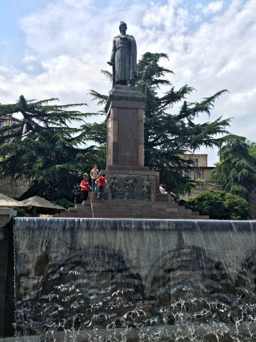 Shota Rustaveli statue Tbilisi