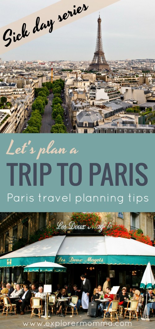 Let's plan a trip to Paris, the Eiffel Tower and Deux Magots