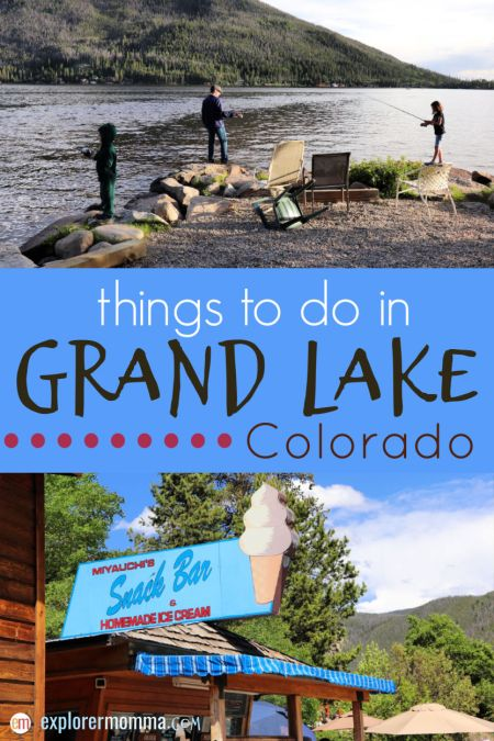 Awesome things to do in Grand Lake, Colorado. Perfect family vacation destination with fishing, kayaking, hiking, and more! #grandlakecolorado #ilovecolorado
