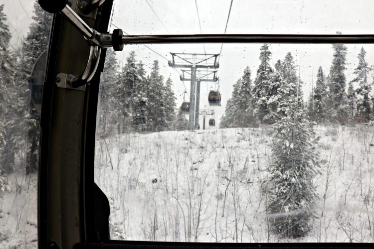 Breckenridge gondola winter view