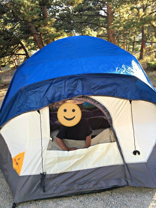 Tent camping in the Rocky Mountains