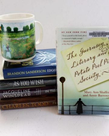 Summer what to read next books and a Monet mug