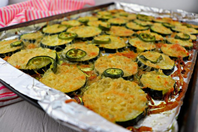 Baked zucchini pan side