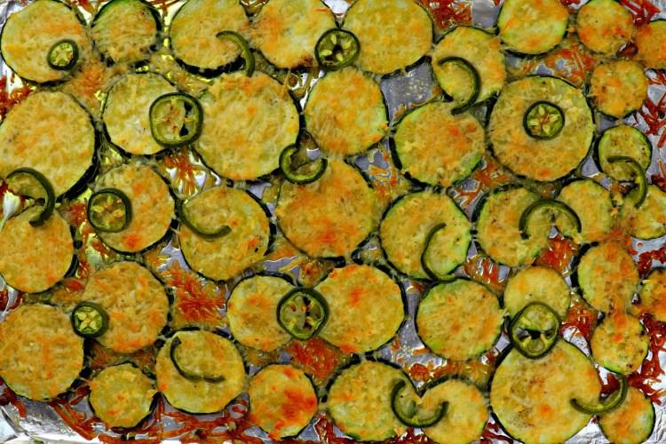 Baked low carb grilled garlic parmesan zucchini pan