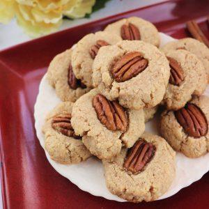 Cinnamon Pecan Cookies, overhead square