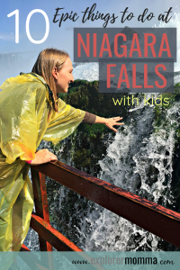 Niagara Falls with kids. Family travel awesomeness and things to do. #operationusparks #iloveny #explorermomma