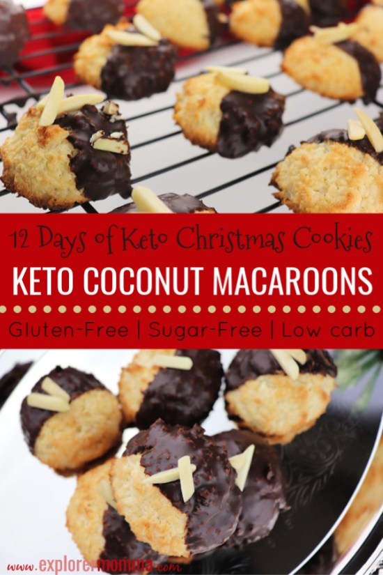 Keto Coconut Macaroons are the perfect holiday cookie. Low carb, gluten-free and perfect for that family get together! #ketochristmas #lowcarbcookies