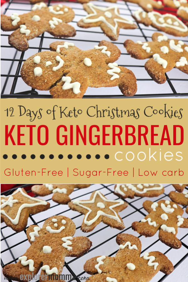 Keto Gingerbread Cookies   The classic low carb Christmas cookie, gluten-free and sugar free. Delicious ginger taste and fun for kids. #lowcarbrecipes #ketocookies