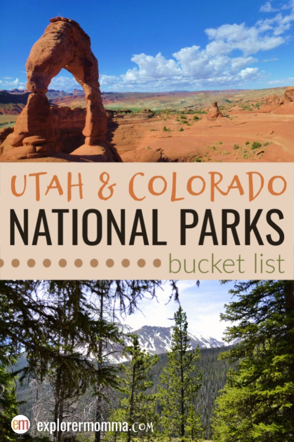 Utah and Colorado National Parks bucket list | Zion National Park, Bryce Canyon, Rocky Mountain National Park, and more! #utahnationalparks #coloradonationalparks