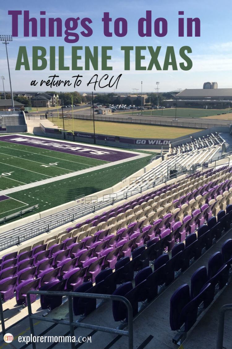 There are so many fun things to do in Abilene TX with kids and families. Great for family travel, it's fun to visit friends, family, and your alma mater. #acuwildcats #abilenetx
