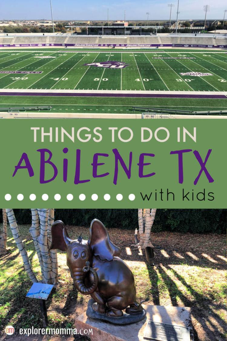 Top things to do in Abilene TX for families and kids. Where to eat, where to stay, and more! Perfect for family travel. #abilenetx #familytravel