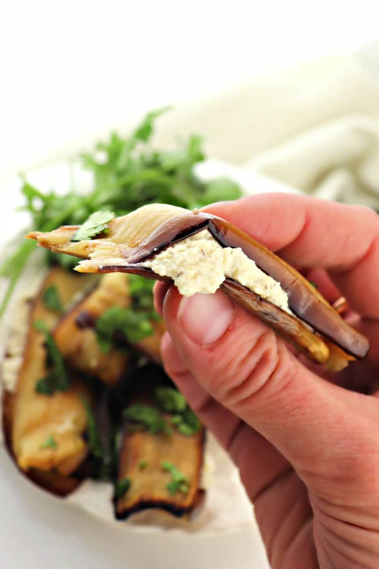 Bite of Georgian foods: eggplant with walnuts #georgianfood