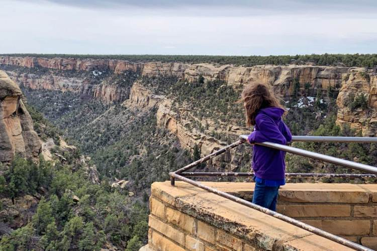 Looking out at Mesa Verde NP, towards Cliff Palace #mesaverde