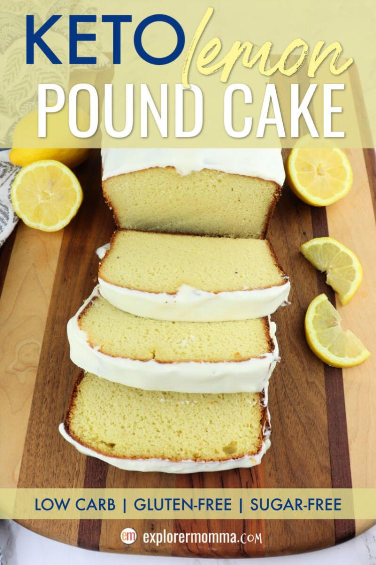 This tangy and delicious Keto lemon pound cake recipe is sugar-free, gluten-free, and 9 grams of protein a slice! Enjoy for a low carb breakfast or dessert. #ketodessert #ketobreakfast