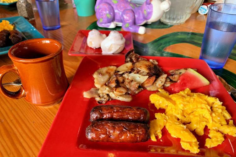 Sausages at Fat Cat Cafe, Restaurants in Grand Lake CO #grandlakeco #grandlake