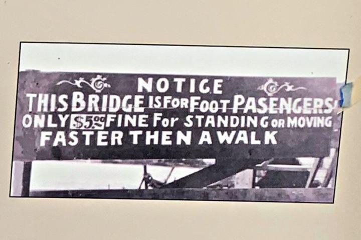 Fort Benton Toll Bridge vintage sign