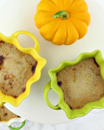 Pumpkin keto creme brulee. Low carb dessert, decadent and delicious. #ketodesserts #ketorecipes