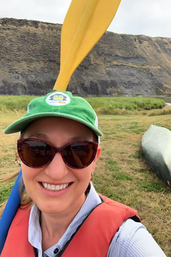 Lauren goes kayaking on the Missouri River, Missouri River Outfitters Fort Benton Montana