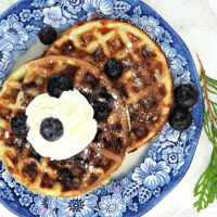 Blueberry Chaffles {Keto}
