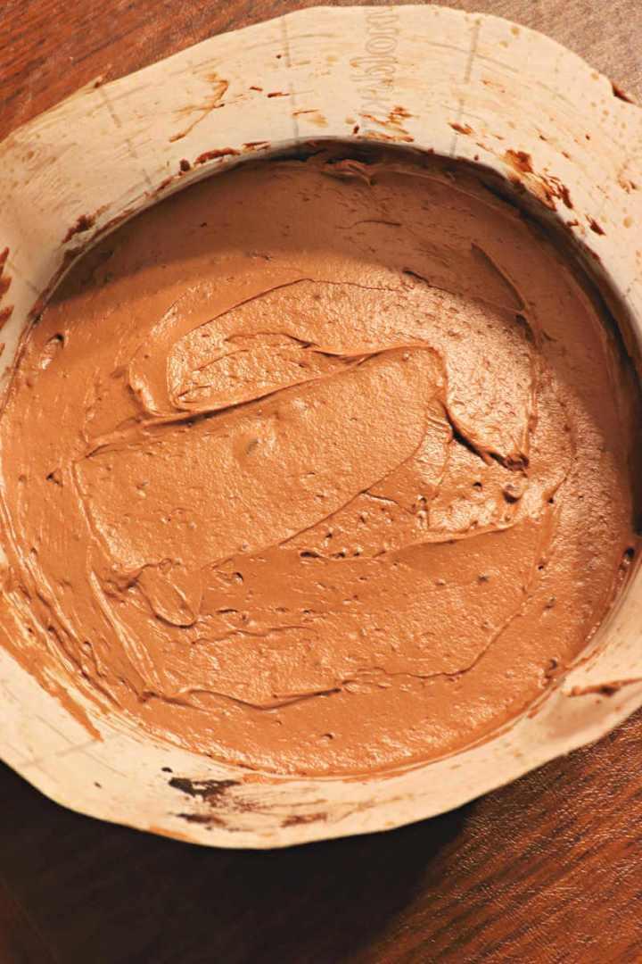 Keto chocolate mousse cake batter