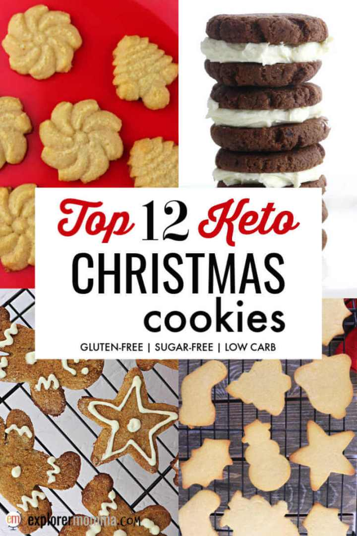 Top 12 Keto Christmas Cookies for your low carb, gluten-free holiday needs! Delicious sugar-free cookie recipes to keep you on the keto diet track. #ketocookies #ketochristmas #ketodesserts