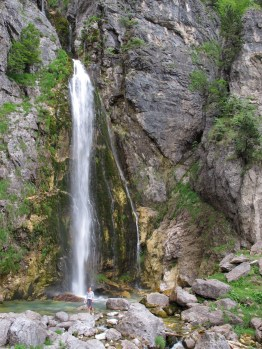 Waterfall, Shala Valley, Theth National Park, Albania