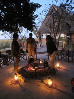 Coffee at dawn at Selinda Camp